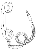 Telephone Handset, Portable, Plug-in
