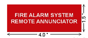 Sign-FIRE ALARM REMOTE ANNUNCIATOR
