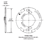 Heat Detector Mounting Plate